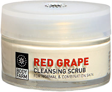 red grape face scrub