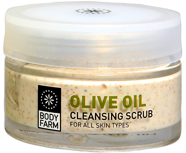 olive line scrub face